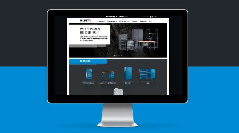 Lista Digital Design - Webseite