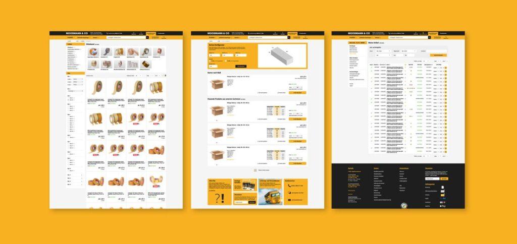 Moosmann Webdesign - Gestaltungskonzept