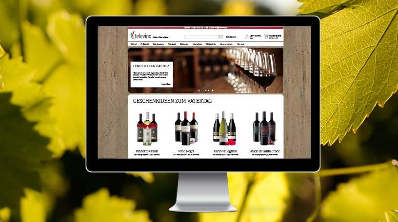 televino Webshop Design